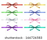 set of eight gift bow with... | Shutterstock .eps vector #166726583