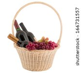Bottle Basket  Wine Grapes...