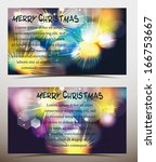 holiday banners with colorful... | Shutterstock .eps vector #166753667