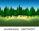 horizontal seamless forest for...