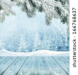 winter background  | Shutterstock . vector #166768637