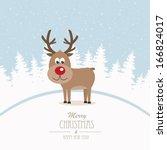 Reindeer Merry Christmas Winte...