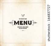 restaurant menu design | Shutterstock .eps vector #166837727