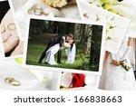 pile of wedding photos   Shutterstock . vector #166838663