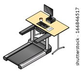 a walking desk   office desk... | Shutterstock .eps vector #166846517