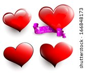 set of glossy hearts. you can... | Shutterstock .eps vector #166848173