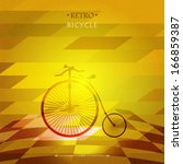 retro bicycle  on a grungy... | Shutterstock .eps vector #166859387
