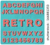 alphabet vintage style. vector... | Shutterstock .eps vector #166881353