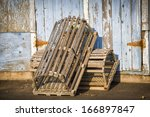 Lobster Traps Propped Up On A...