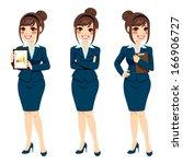 beautiful brunette... | Shutterstock .eps vector #166906727