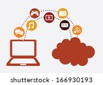 social media over white ... | Shutterstock .eps vector #166930193