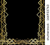 art deco geometric frame  1920... | Shutterstock .eps vector #166933763