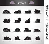 Stone Icons Set   Isolated On...