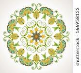 elegant indian ornamentation on ... | Shutterstock . vector #166958123
