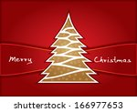 christmas greeting card | Shutterstock .eps vector #166977653
