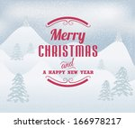 merry christmas winter... | Shutterstock .eps vector #166978217