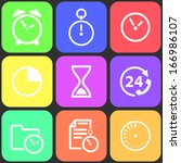 set of flat time icons. vector