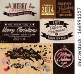 merry christmas and happy new... | Shutterstock .eps vector #166991357
