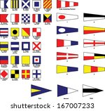 vector nautical flags | Shutterstock .eps vector #167007233