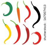 chili pepper. abstract chili... | Shutterstock .eps vector #167007413