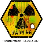 nuclear radiation sign  vector | Shutterstock .eps vector #167015387