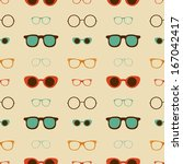 hipster glasses vector seamless ...