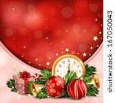new year illustration with... | Shutterstock .eps vector #167050043