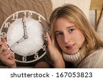 new year's concept. young... | Shutterstock . vector #167053823
