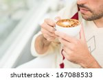 close up image of a man... | Shutterstock . vector #167088533