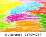 Abstract Wax Crayon Hand...