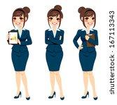 beautiful brunette... | Shutterstock . vector #167113343