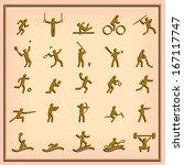 sport icons set | Shutterstock .eps vector #167117747