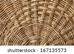 Weave Pattern Rattan Backgroun...