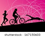 triathlon marathon active young ...