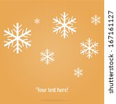 vector snowflakes made of paper ... | Shutterstock .eps vector #167161127