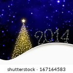 2014 new year colorful... | Shutterstock . vector #167164583