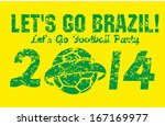 brazilian football retro style... | Shutterstock .eps vector #167169977