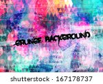 Abstract Grunge Art Colorful...