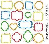 set of hand drawn doodle frames | Shutterstock .eps vector #167205473