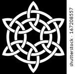 6 point celtic knot interlaced... | Shutterstock .eps vector #167208557