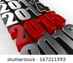 3d happy new year red 2015 | Shutterstock . vector #167211593