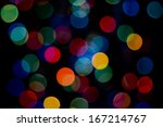 defocused colored lights on the ... | Shutterstock . vector #167214767