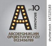black broadway alphabet and... | Shutterstock .eps vector #167225183