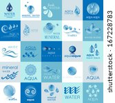 water and drop icons set  ... | Shutterstock .eps vector #167228783