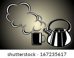 teapot and cup | Shutterstock .eps vector #167235617