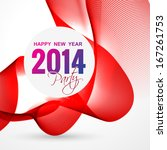 stylish 2014 happy new year... | Shutterstock .eps vector #167261753