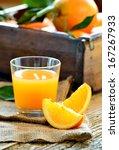 Orange Juice And Fresh Oranges...