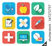 vector icons for web and mobile ... | Shutterstock .eps vector #167272757
