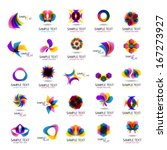 unusual icons set   isolated on ... | Shutterstock .eps vector #167273927