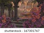 An Old Monastery Courtyard...